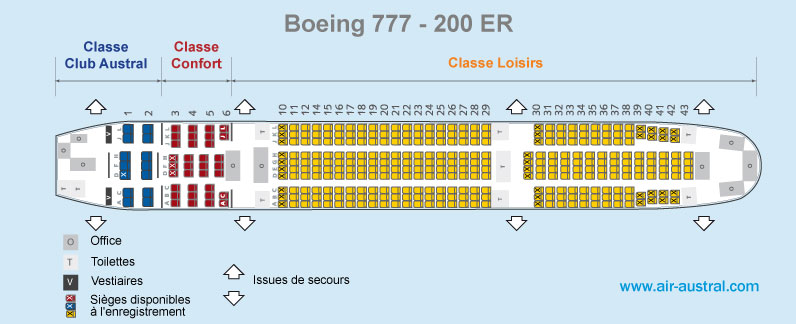 Le voyage for Plan de cabine boeing 777 200 air france